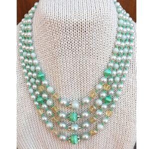 Vintage Japan 4-Strand Beaded Necklace
